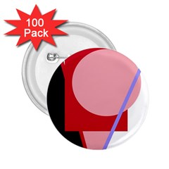 Decorative geomeric abstraction 2.25  Buttons (100 pack)