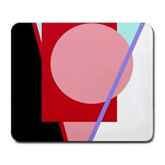 Decorative geomeric abstraction Large Mousepads
