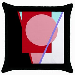 Decorative geomeric abstraction Throw Pillow Case (Black)