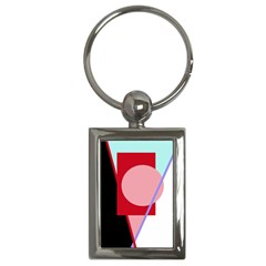 Decorative geomeric abstraction Key Chains (Rectangle)
