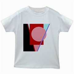 Decorative geomeric abstraction Kids White T-Shirts