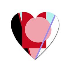 Decorative geomeric abstraction Heart Magnet