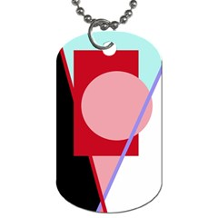 Decorative geomeric abstraction Dog Tag (One Side)