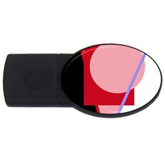 Decorative geomeric abstraction USB Flash Drive Oval (2 GB)