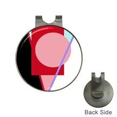 Decorative geomeric abstraction Hat Clips with Golf Markers