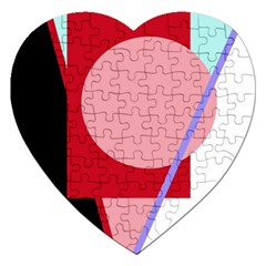 Decorative geomeric abstraction Jigsaw Puzzle (Heart)