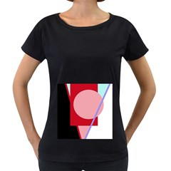 Decorative geomeric abstraction Women s Loose-Fit T-Shirt (Black)