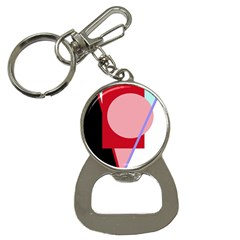Decorative geomeric abstraction Bottle Opener Key Chains