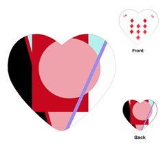 Decorative geomeric abstraction Playing Cards (Heart)