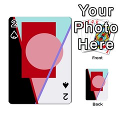 Decorative geomeric abstraction Playing Cards 54 Designs