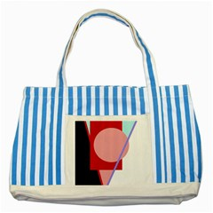 Decorative geomeric abstraction Striped Blue Tote Bag