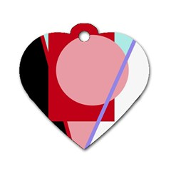 Decorative geomeric abstraction Dog Tag Heart (One Side)