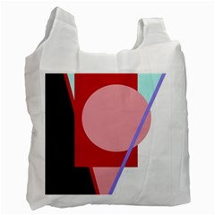 Decorative geomeric abstraction Recycle Bag (One Side)