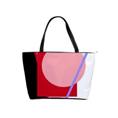 Decorative geomeric abstraction Shoulder Handbags