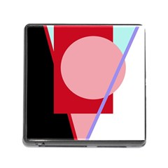 Decorative geomeric abstraction Memory Card Reader (Square)