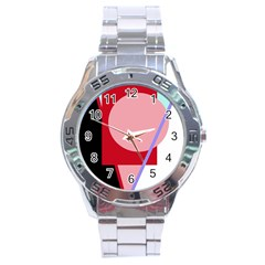 Decorative geomeric abstraction Stainless Steel Analogue Watch