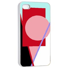 Decorative geomeric abstraction Apple iPhone 4/4s Seamless Case (White)