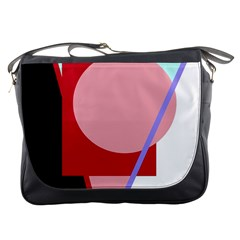 Decorative geomeric abstraction Messenger Bags