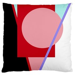 Decorative geomeric abstraction Large Cushion Case (One Side)