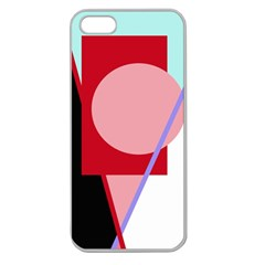 Decorative geomeric abstraction Apple Seamless iPhone 5 Case (Clear)
