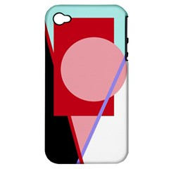 Decorative geomeric abstraction Apple iPhone 4/4S Hardshell Case (PC+Silicone)