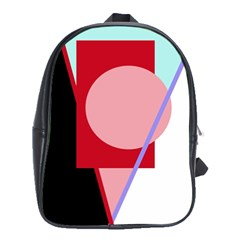 Decorative geomeric abstraction School Bags (XL)
