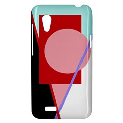 Decorative geomeric abstraction HTC Desire VT (T328T) Hardshell Case