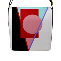 Decorative geomeric abstraction Flap Messenger Bag (L)