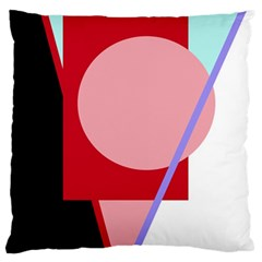 Decorative geomeric abstraction Large Flano Cushion Case (One Side)