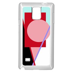 Decorative geomeric abstraction Samsung Galaxy Note 4 Case (White)