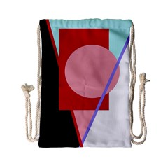 Decorative geomeric abstraction Drawstring Bag (Small)
