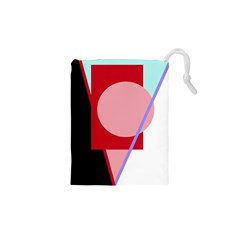 Decorative geomeric abstraction Drawstring Pouches (XS)