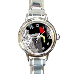 Decorative abstraction Round Italian Charm Watch