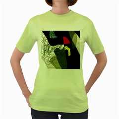 Decorative abstraction Women s Green T-Shirt