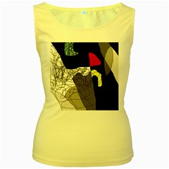 Decorative abstraction Women s Yellow Tank Top