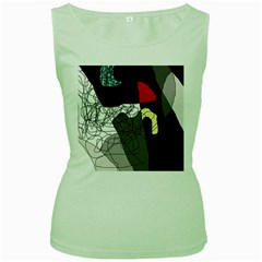 Decorative abstraction Women s Green Tank Top