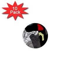 Decorative abstraction 1  Mini Buttons (10 pack)