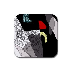 Decorative abstraction Rubber Square Coaster (4 pack)