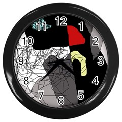 Decorative abstraction Wall Clocks (Black)