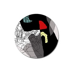 Decorative abstraction Magnet 3  (Round)