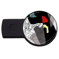Decorative abstraction USB Flash Drive Round (2 GB)