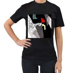 Decorative abstraction Women s T-Shirt (Black) (Two Sided)