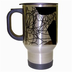Decorative abstraction Travel Mug (Silver Gray)