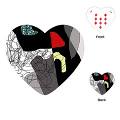 Decorative abstraction Playing Cards (Heart)