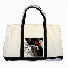 Decorative abstraction Two Tone Tote Bag
