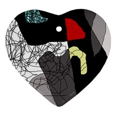 Decorative abstraction Heart Ornament (2 Sides)