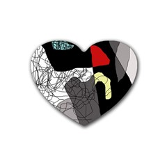 Decorative abstraction Heart Coaster (4 pack)