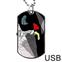 Decorative abstraction Dog Tag USB Flash (Two Sides)