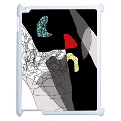 Decorative abstraction Apple iPad 2 Case (White)