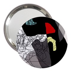 Decorative abstraction 3  Handbag Mirrors